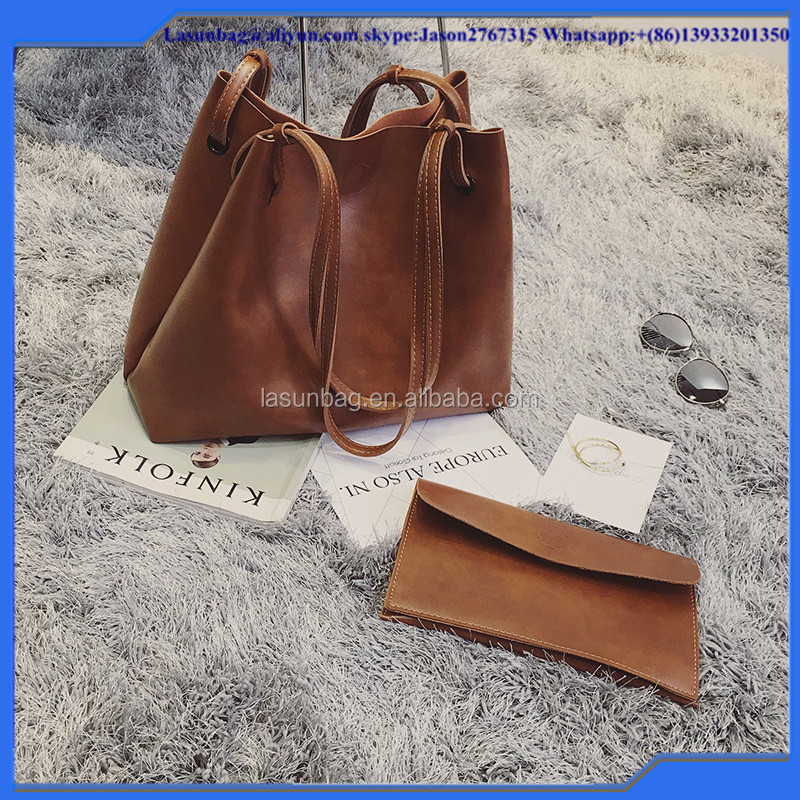 New leather pu big size tote bag brown women's designer handbags designer nice bag for women