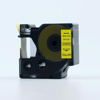 PUTY 19MM Compatible Black on Yellow D1 45808 Tape Cartridge for label manager printer