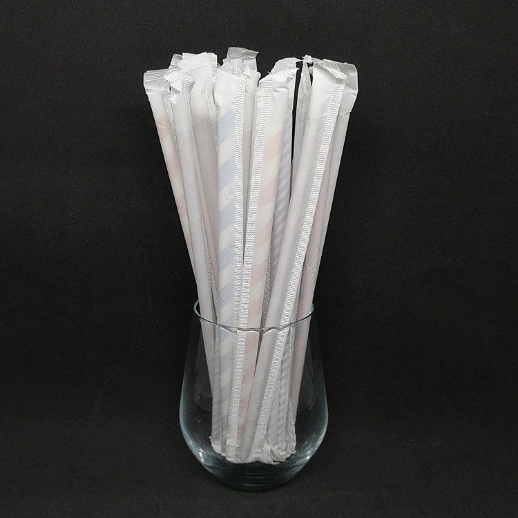 THINKGREEN EU/FDA Certificate Wholesale Material Disposable Degradable Flexible Bendy Paper Drinking Straw