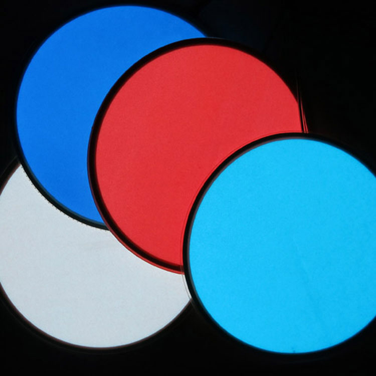 Super thin large white electroluminescent round el sticker panel / el backlight