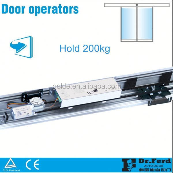Heavy-duty Automatic Glass Sliding Door Operator to hold 600kg