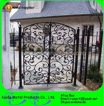 Wrought Iron Gates Double Entry Doors Metal Gate For Supplier