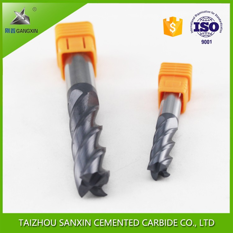 fresh material Gangxin tungsten carbide milling cutter/ solid tungsten carbide end mills for cutting and processing aluminum