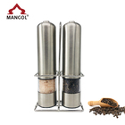 Stainless Steel Electric Salt and Pepper Grinder Set