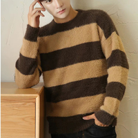 OEM Different Color Mohair Striped Sweater Man