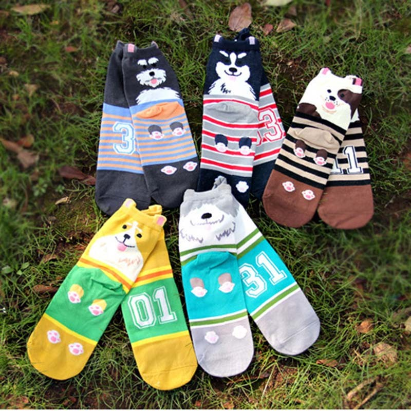 Cheap women 3d fashion cartoon dog socks
