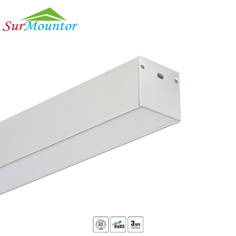 2M Linear Aluminium Led Profile Linear Pendant Lights For Led Tape