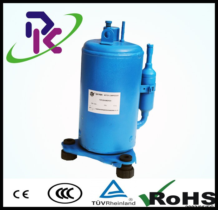 QX80H hermetic rotary ac invariable frequency R134a refrigeration small compressor