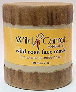 Wild Rose Face Mask Wild Carrot Herbals 2 oz Cream