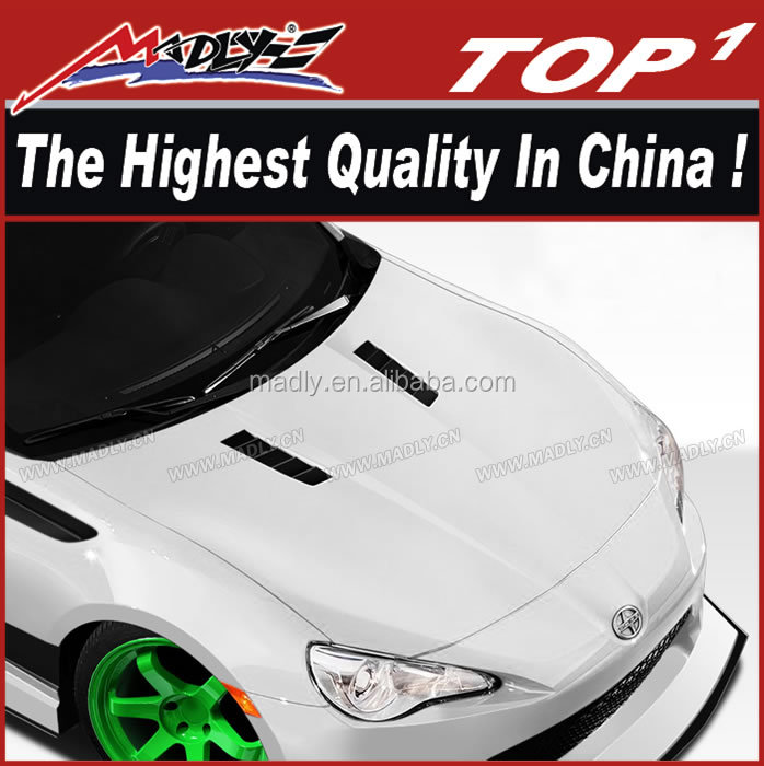 FRP body kit for 2013-2016 Scion FR-S BRZ Duraflex GT Concept Hood