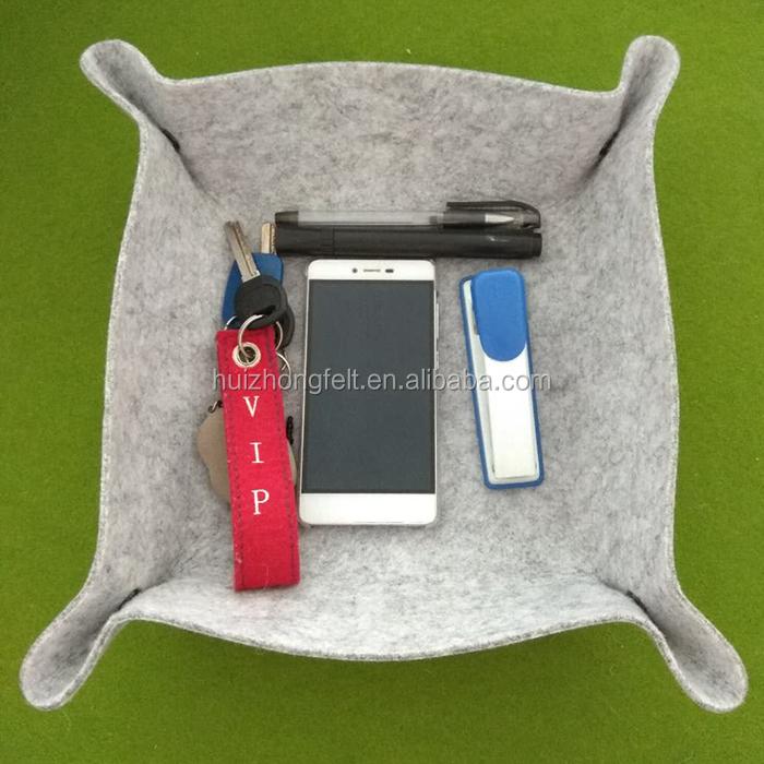Фетр Валет лоток Прикроватная корзина для хранения коробка ювелирных изделий, ключ, сотовый телефон