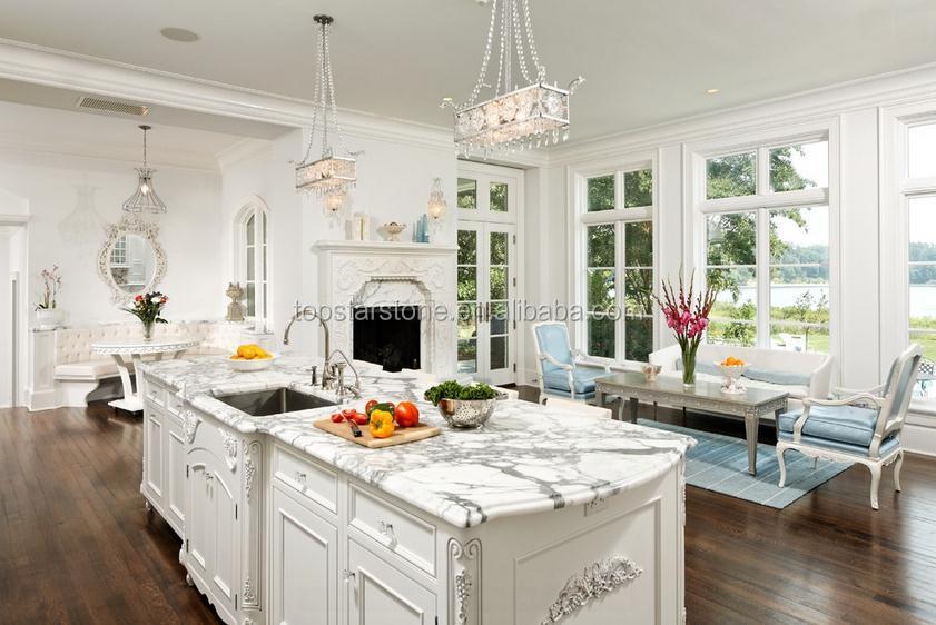 blanco statuario marmol cocina encimera