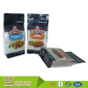 Factory Price Food Grade Flat Bottom Clear Side Gusset Resealable Custom Printed Beef Jerky Packaging Bag With Ziplock