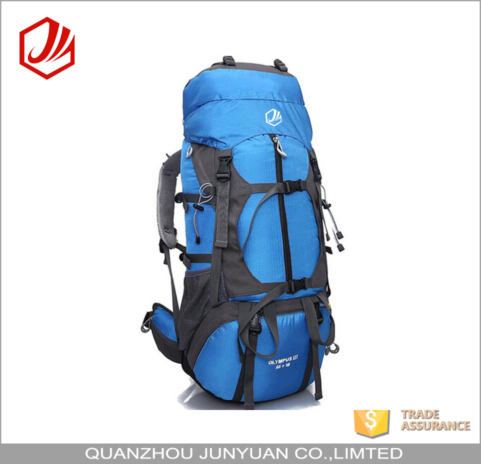 Manufacturers large capacity outdoor bag hiking backpack with rain cover