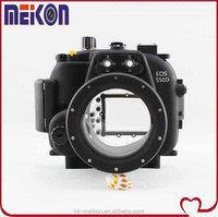 2 year warranty Meikon underwater DSRL camera housing For Canon EOS T2i/550D(Lens 18mm-55mm)