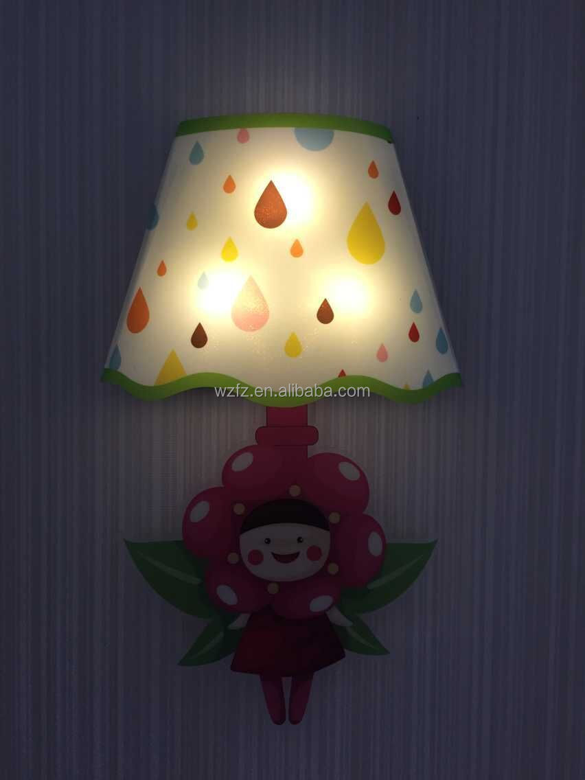 Touch-activated Led Kids Wall Lamp Sticker With Little Pegasus ...
