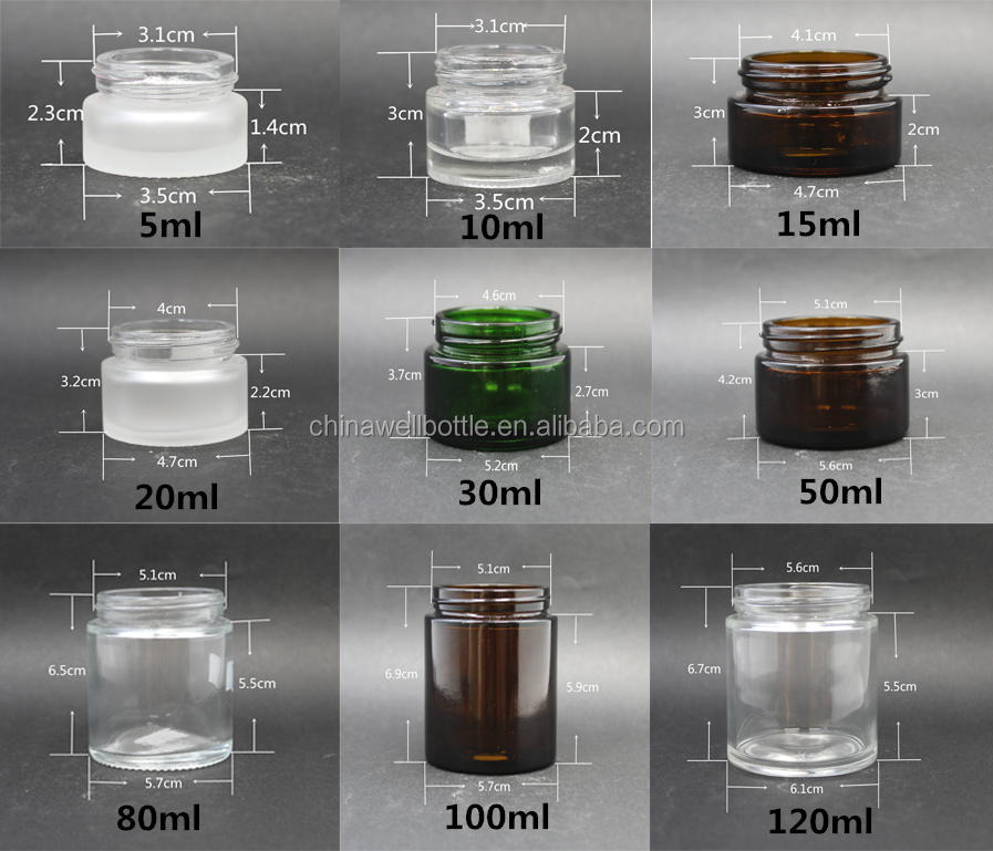 5g 10g 15g 20g 30g 50g 100g cream glass jar for glass cosmetic jar with lid GJ-8Z