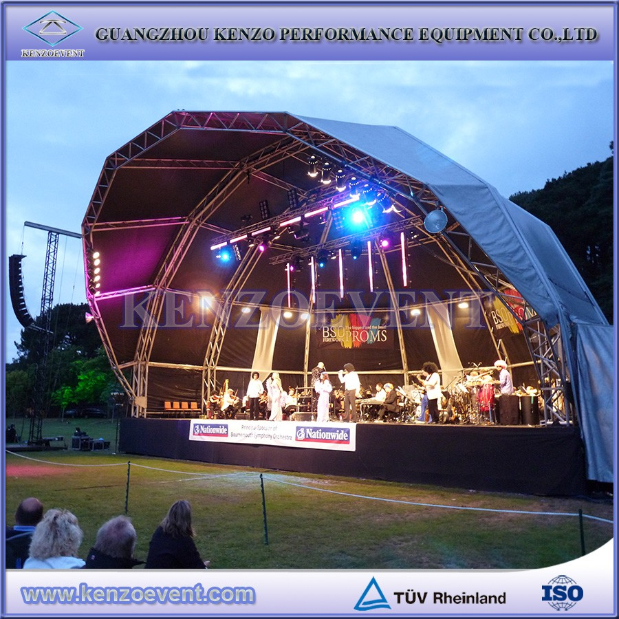 Aluminum Dome Roof Truss Hanging Stage Lights Stage