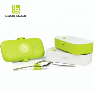 online shopping FDA approved hot pot lunch box with fork and spoon
