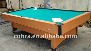 Billiard TableIndoor Pool TableMdf Billiard Table With Wool Cloth - Chrome pool table