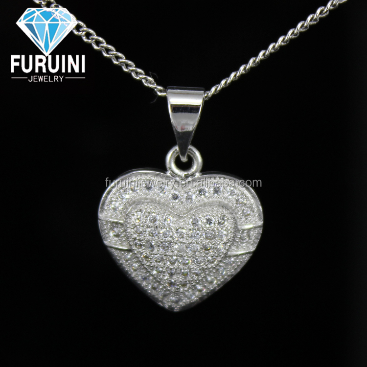 Top quality new design pendant copper alloy heart pendant luxurious houston wholesale jewelry