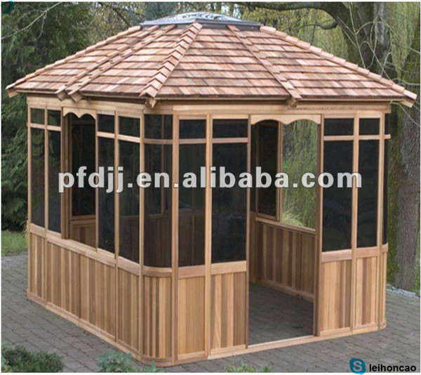 cool portable outdoor wooden gazebo kits buy wooden. Black Bedroom Furniture Sets. Home Design Ideas