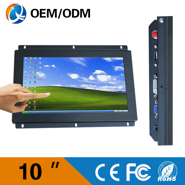 hot sale 10-inch open frame lcd monitor VGA DVI USB
