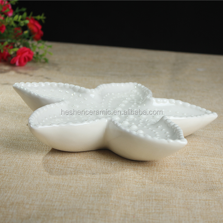Ceramic arts and crafts for wedding party decoration cake fruit plate