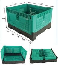 1200*1000*800HDPE plastic Bulk Collapsible box foldable perforated crate