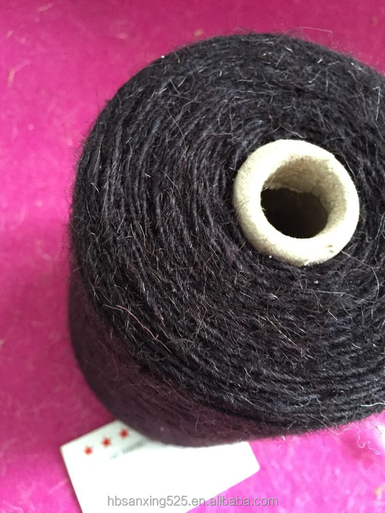 9/1NM, 50%wool & 50% polyester yarn to make carpet / rug