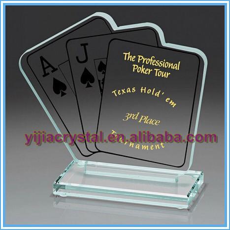 Custom Texas Poker Kristal Honor Awards; Kristal Poker