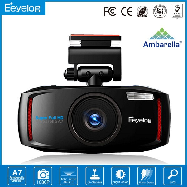 "2014 Eeyelog 2.7"" LCD Full HD CAR DVR, Car Black Box Dvr Kit,Full Hd DVR With GPS"