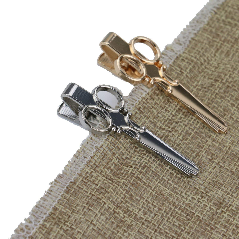 0767dccd08fd Get Quotations · TOPMO 2 Pcs Metal Special Shape Tie Clips Pins Alloy Tie  Bar Mens Special Shape Tie