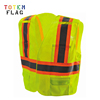 Cheap Orange Black Reflective Rope Safety Vest With Pocket