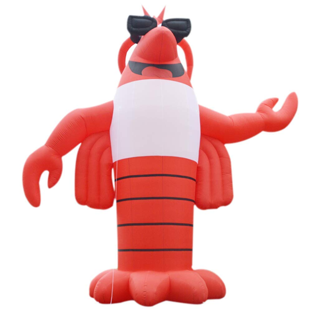 Sayok Giant Inflatable Lobster Replica Inflatable Inflatable Crawfish, Inflatable Shrimp Model for Advertising(13.12ft Tall)