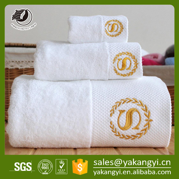Best Selling High Quality Embroidery White Hotel Bath Towel
