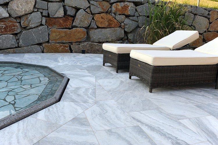 Chinese Cheap Sandblasted White Cloud Marble Tiles For Swimming Pool Coping Stones Buy White
