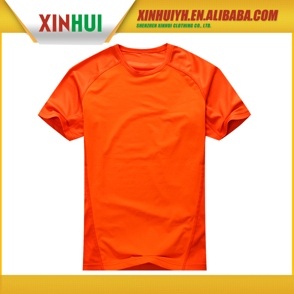 2015 New design low price men's short sleeve one piece t shirts
