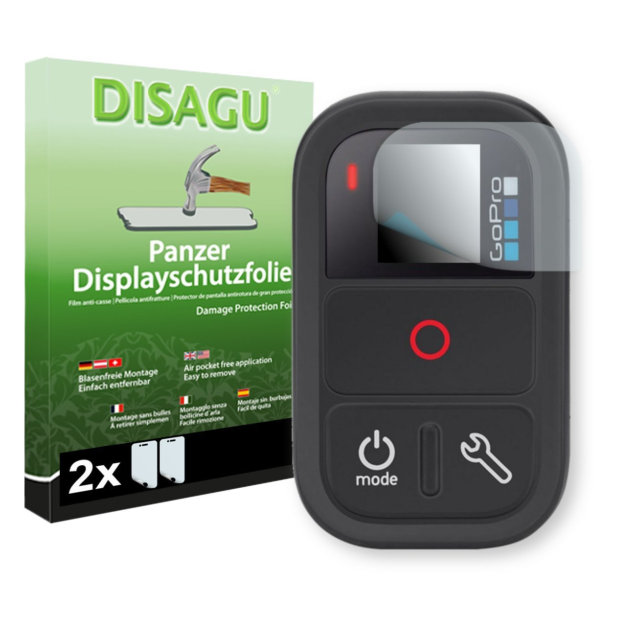 2 x DISAGU Armor Screen Protector GoPro Remote Screen Fracture Protection Film