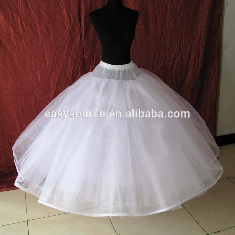 boda vestido de novia blanco crinolina enagua de la hinchada enaguas
