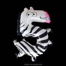 Zebra Shaped Toy Balloon Approved REACH