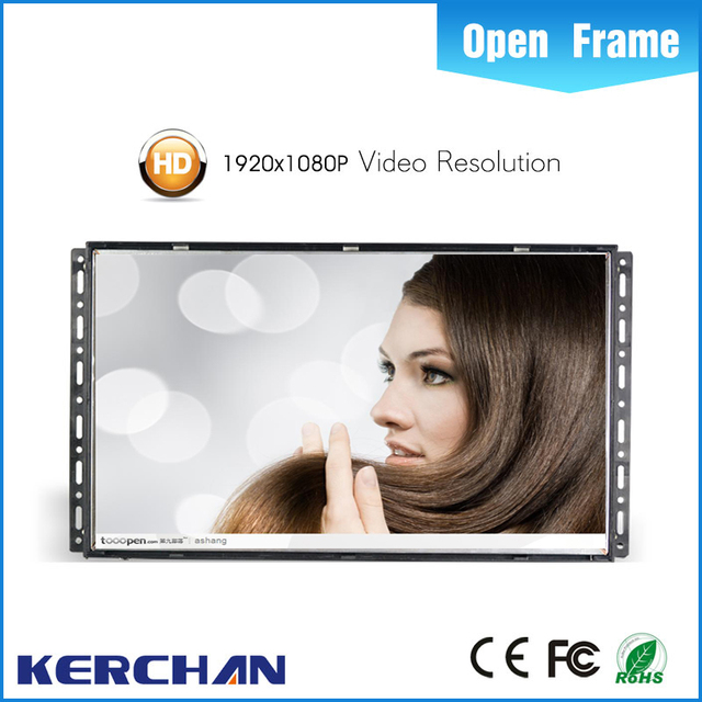 Flexible 21.5 wall-embeded open frame wide screen lcd advertising player/monitor/digital signage/screens