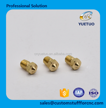 China Oem Customized Cnc Machining Parts Brass 3d Printer 0 3mm Nozzle For  Diy 3d Printer Parts - Buy Brass 3d Printer Nozzle,Diy 3d Printer Parts,3d