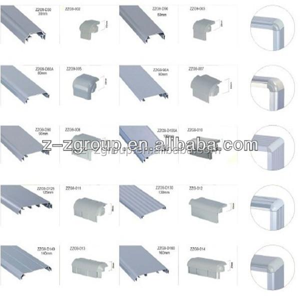 Perfil de aluminio accesorios para la caja ligera delgada for Perfiles aluminio para toldos correderos
