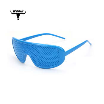 woniu QM38 New 2020 fashion America cool party sandbeach blue white big custom logo printed lenses pinhole sunglasses