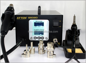 Free tax +Free Shipping //2 in 1 SMD Leadfree Hot Air Soldering station of ATTEN AT8502D