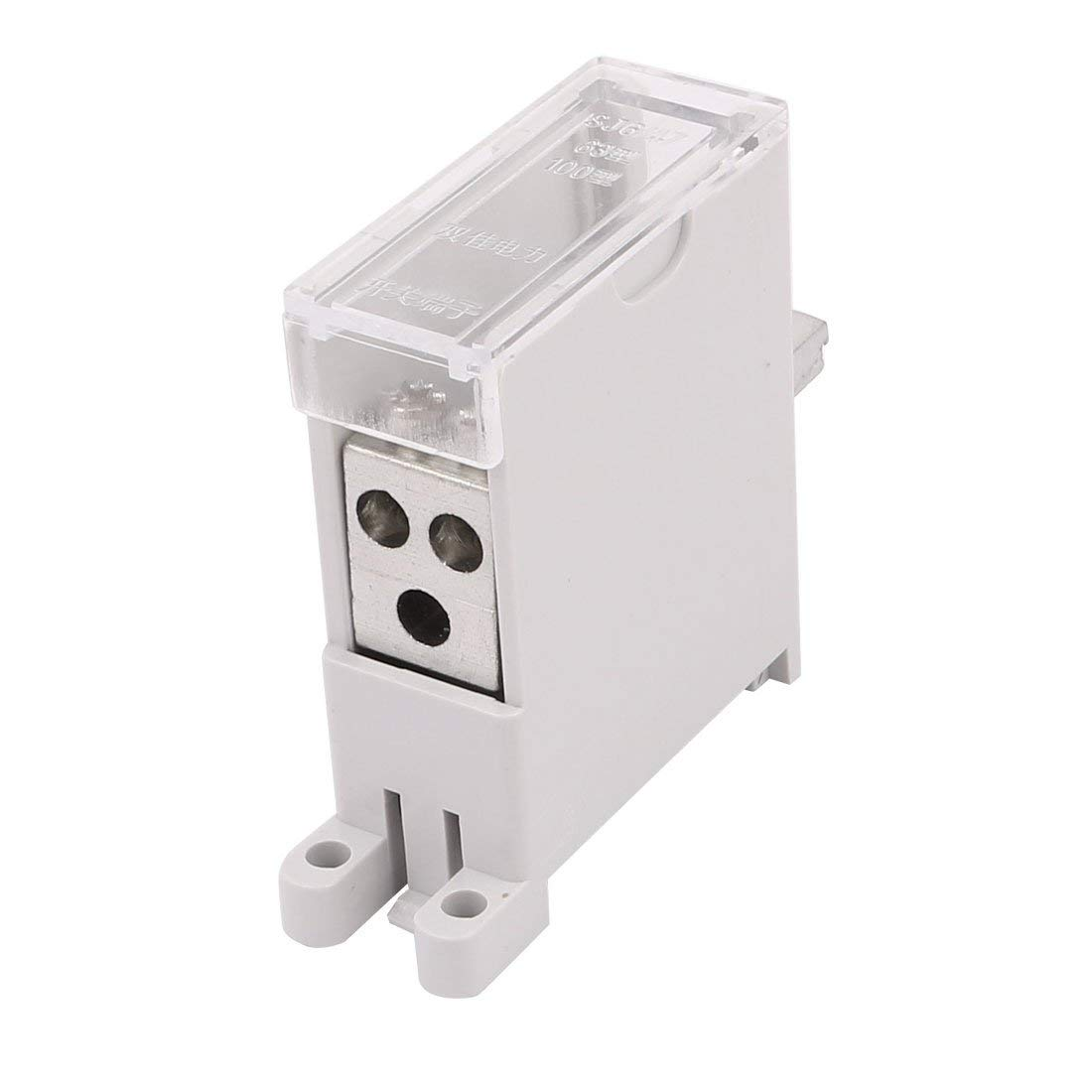 uxcell DZ47 Switch Terminal Wire Barrier Block 1 Inlet 3 Outlet for Miniature Circuit Breakers
