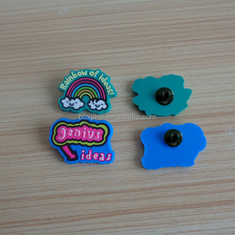 Hot selling kids gift soft pvc custom rubber lapel pins