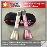 2016 Wireless karaoke microphone K068 bluetooth portable karaoke player