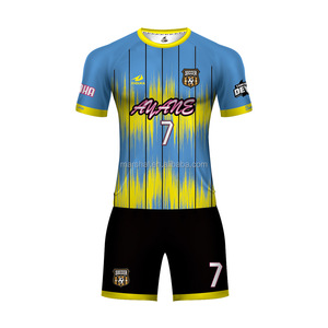 Sublimation soccer jersey custom club unisex football jersey set OEM dry fit fabric thai quality soccer wear